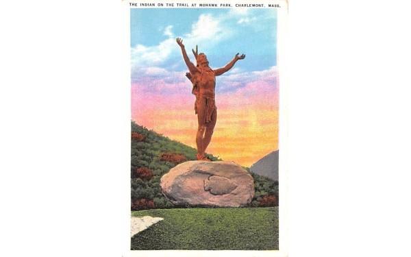 The Indian  Charlemont, Massachusetts Postcard