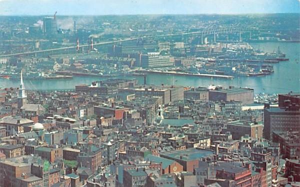 Boston Navy Yard Charlestown, Massachusetts Postcard