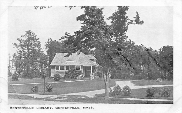 Centerville Library Massachusetts Postcard