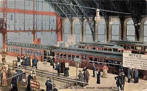 Sullivan Sq. Terminal Interior Charlestown, Massachusetts Postcard