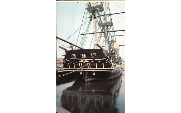 U.S.S. Constitution Charlestown, Massachusetts Postcard
