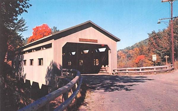 Bissell Bridge Charlemont, Massachusetts Postcard