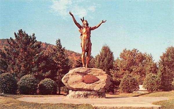 Indian Statue Charlemont, Massachusetts Postcard