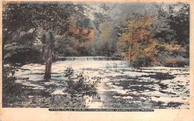 The Old Dam Concord, Massachusetts Postcard
