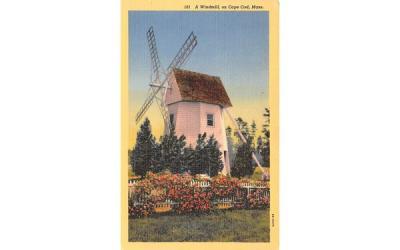 A Windmill  Cape Cod, Massachusetts Postcard