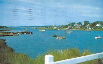 A View from Bass River Bridge Cape Cod, Massachusetts Postcard