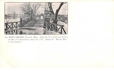 The North Bridge Concord, Massachusetts Postcard