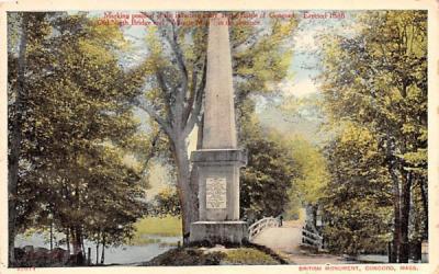 British Monument Concord, Massachusetts Postcard