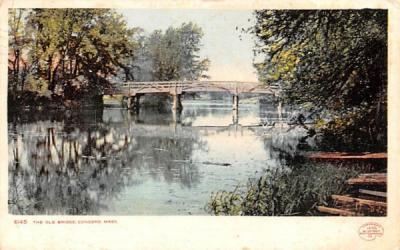 The Old Bridge Concord, Massachusetts Postcard