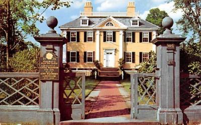 The Longfellow House Cambridge, Massachusetts Postcard