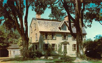 The Old Manse Concord, Massachusetts Postcard