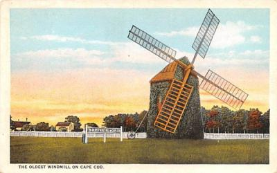 The Oldest Windmill on Cape Cod Massachusetts Postcard