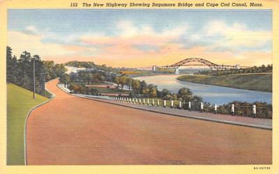 The New Highway Cape Cod, Massachusetts Postcard