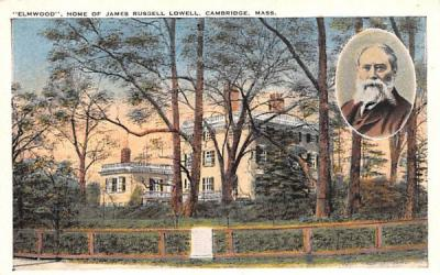 Elmwood Cambridge, Massachusetts Postcard