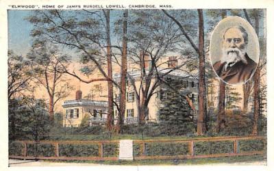 Elmwood Cambridge, Massachusetts Postcard