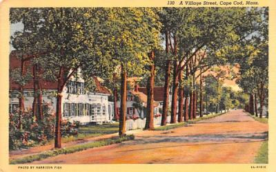 A Village Street Chatham, Massachusetts Postcard