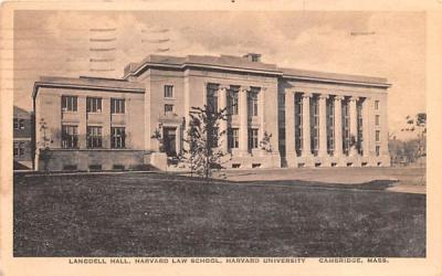 Landgell Hall Cambridge, Massachusetts Postcard