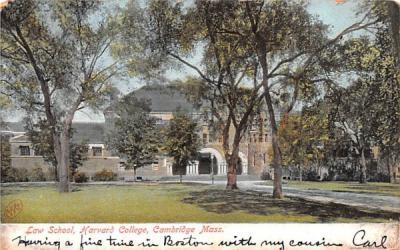 Law School Cambridge, Massachusetts Postcard