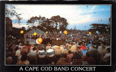 A Cape Cod Band Concert Chatham, Massachusetts Postcard