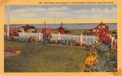 The Ocean from Joseph C. Lincoln Estate  Chatham, Massachusetts Postcard