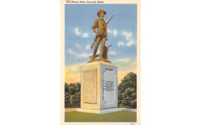 The Minute Man Concord, Massachusetts Postcard