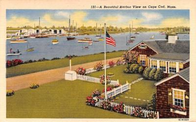 A Beautiful Harbor View Cape Cod, Massachusetts Postcard