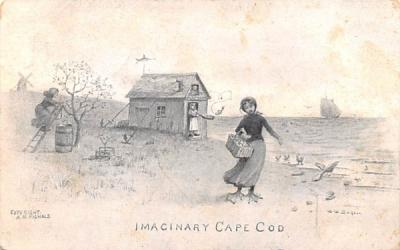 Imaginary Cape Cod Chatham, Massachusetts Postcard