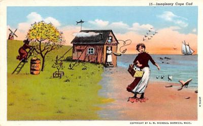Imaginary Cape Cod Massachusetts Postcard