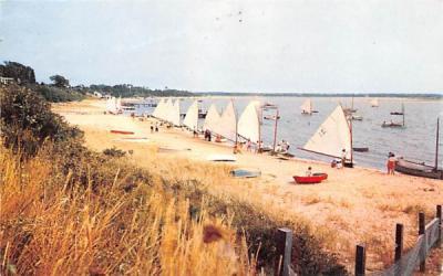 Cotuit Sailing Skiffs Cape Cod, Massachusetts Postcard