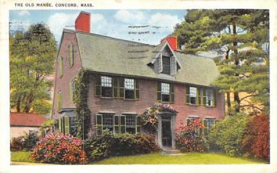 The Old Manse Concord, Massachusetts Postcard
