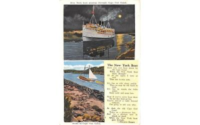 The New York Boat Cape Cod, Massachusetts Postcard
