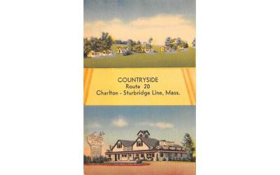 Countryside Charlton Sturbridge Line, Massachusetts Postcard