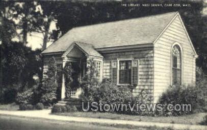 The Library, West Dennis - Cape Cod, Massachusetts MA Postcard