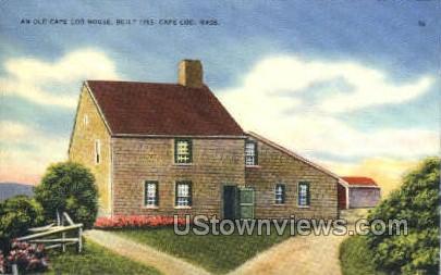 Old Cape Cod House - Massachusetts MA Postcard