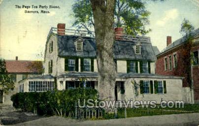 The Page Tea Party House - Danvers, Massachusetts MA Postcard