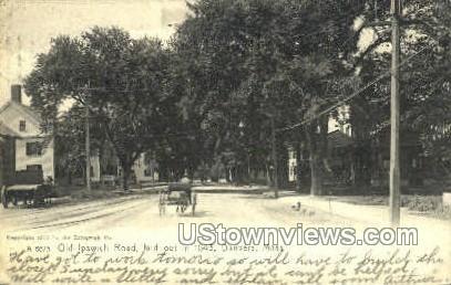 Old Ipswich Road - Danvers, Massachusetts MA Postcard