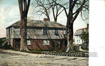 The First Shoe Shop - Danvers, Massachusetts MA Postcard