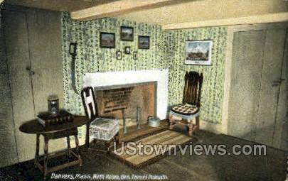 Birth Room, Gen. Israel Putnam - Danvers, Massachusetts MA Postcard