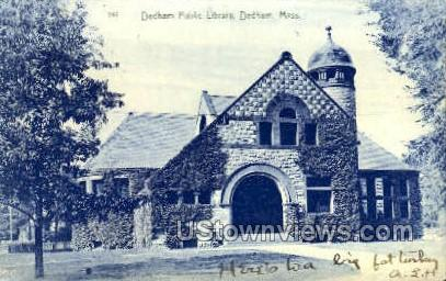 Dedham Public Library - Massachusetts MA Postcard