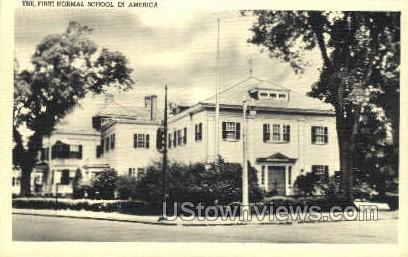 First Normal School - Dedham, Massachusetts MA Postcard
