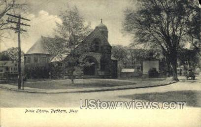Public Library - Dedham, Massachusetts MA Postcard