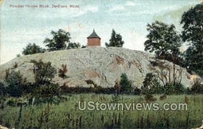 Powderhouse Rock - Dedham, Massachusetts MA Postcard