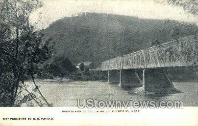 Sunderland Bridge - Deerfield, Massachusetts MA Postcard