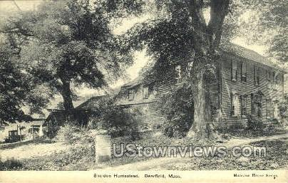 Sheldon Homestead - Deerfield, Massachusetts MA Postcard
