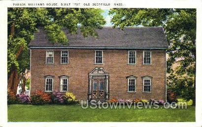 Parson Williams House - Deerfield, Massachusetts MA Postcard
