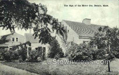 Sign of the Motor Car - Deerfield, Massachusetts MA Postcard
