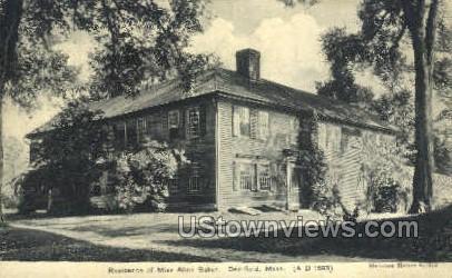 Residence of Miss Alice Baker - Deerfield, Massachusetts MA Postcard