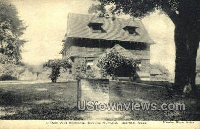 Lincoln Wills Residence - Deerfield, Massachusetts MA Postcard