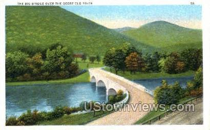 Big Bridge - Deerfield, Massachusetts MA Postcard