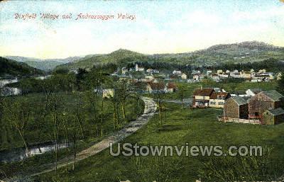 Dixfield Village - Deerfield, Massachusetts MA Postcard